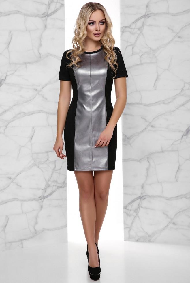 Платье Кристи стальной