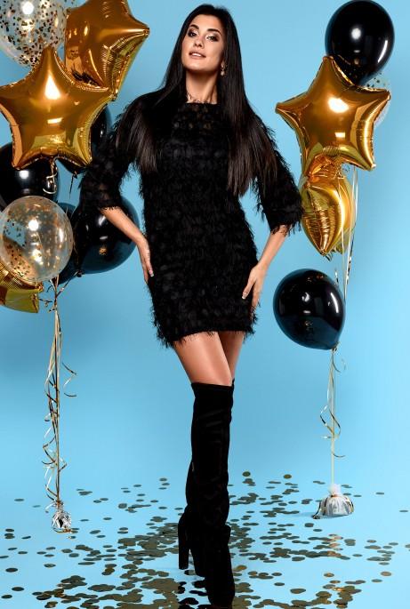 Платье Марго (без ремня) черный