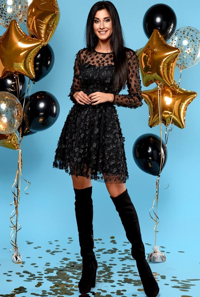 Платье Шарм черный