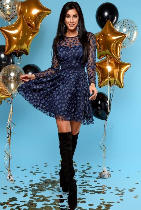 Платье Шарм тёмно-синий