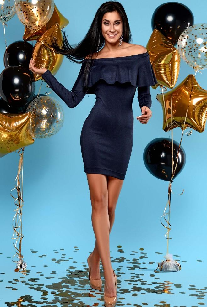 Платье Наиль тёмно-синий