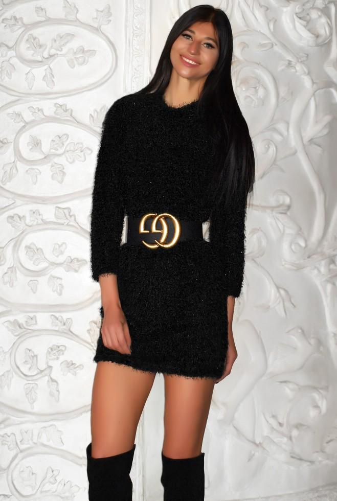 Платье Тиида (без пояса) черный