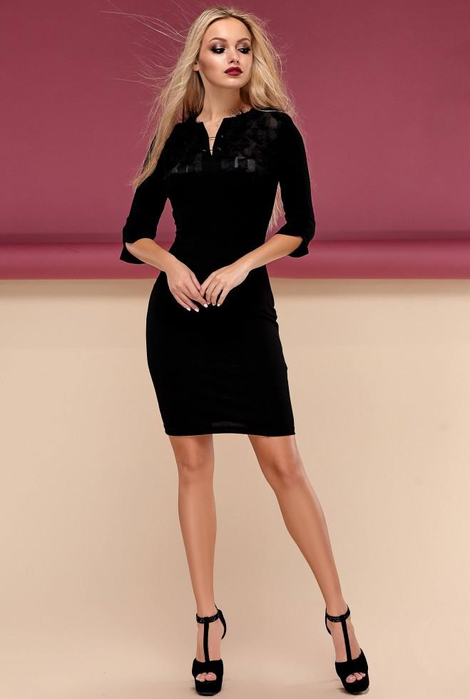 Платье Леона черный