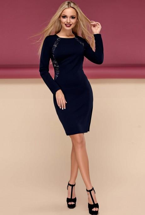 Платье Блэр тёмно-синий