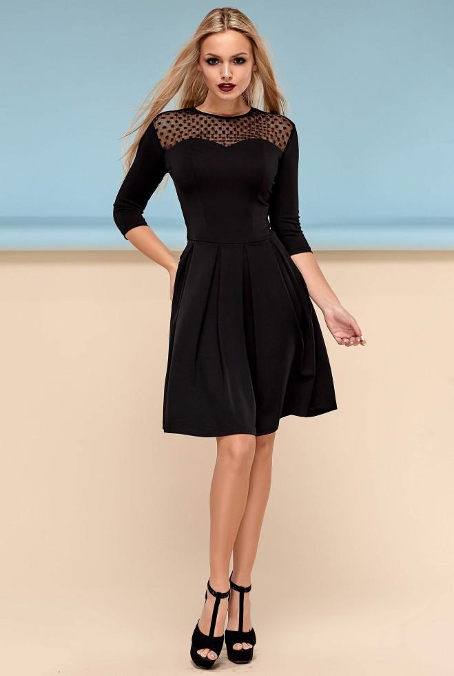 Платье Долорес без пояса черный