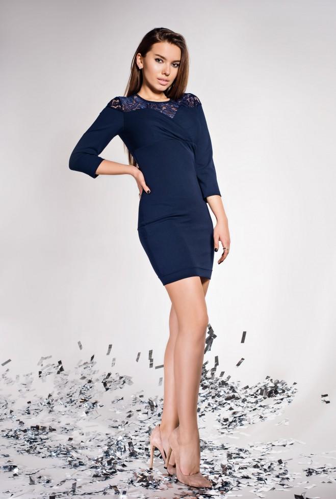 Платье Картье тёмно-синий