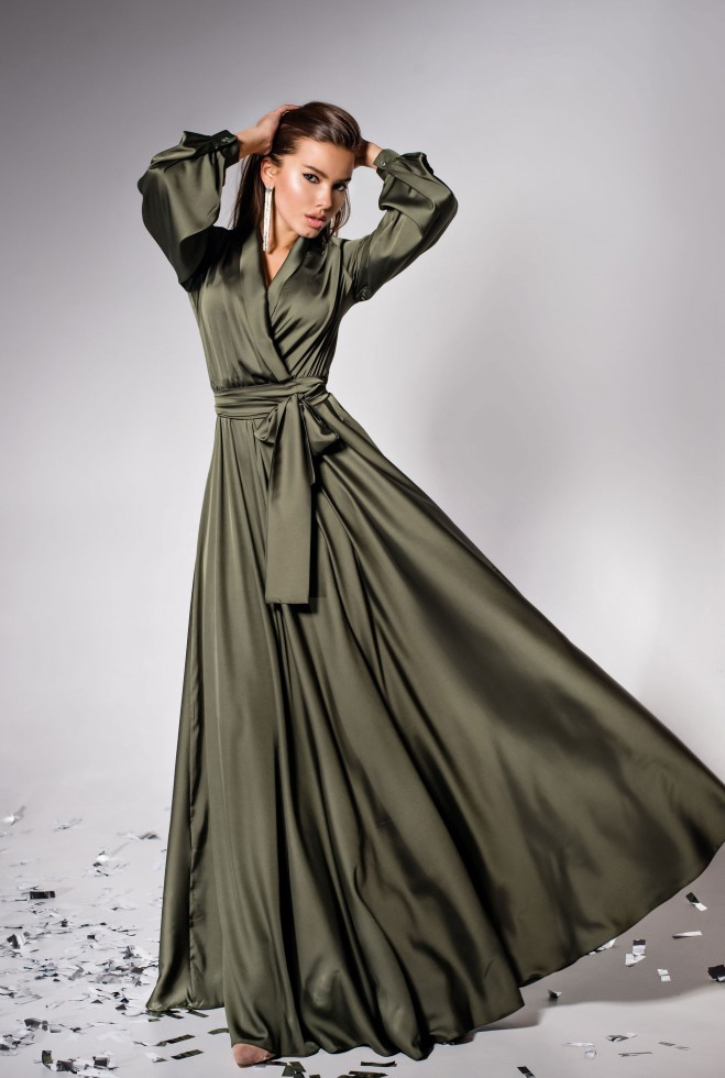Платье Shine хаки Жадон