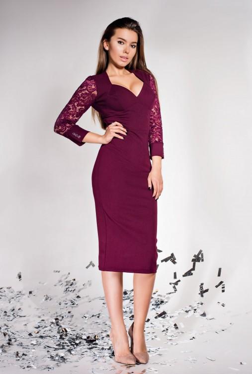 Платье Лазури марсала