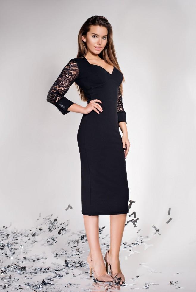 Платье Лазури черный
