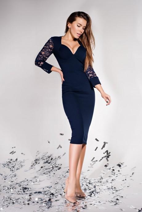 Платье Лазури тёмно-синий