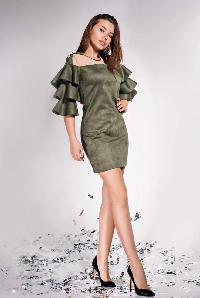 Платье Белла хаки Жадон