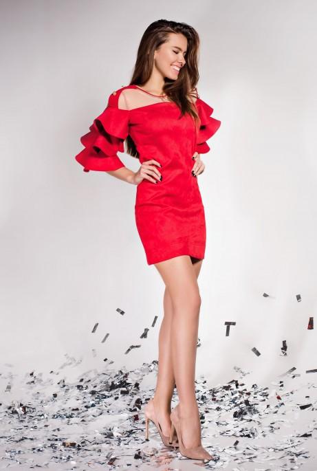 Платье Белла красный