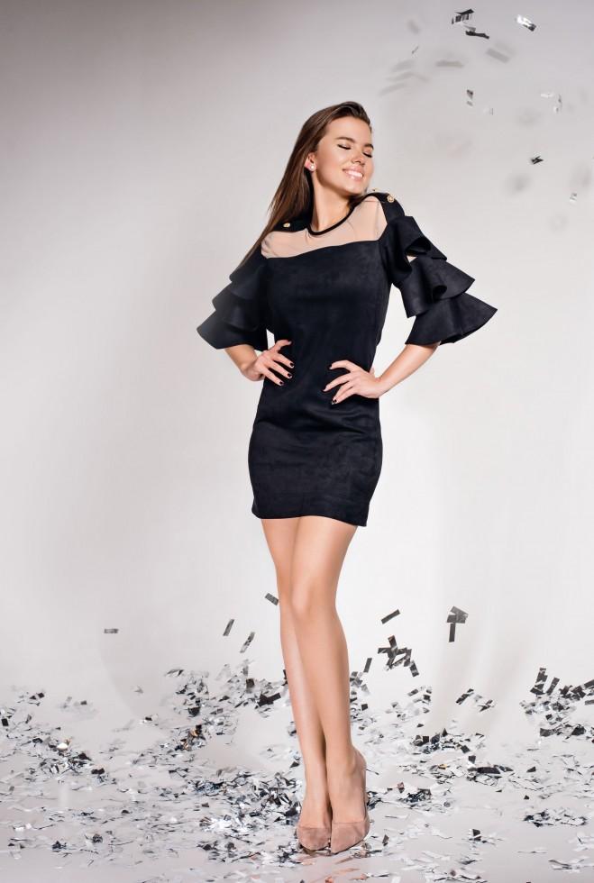 Платье Белла черный Жадон