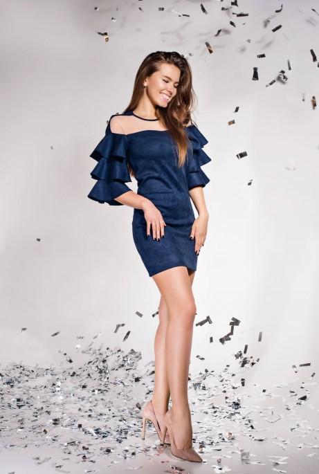 Платье Белла тёмно-синий