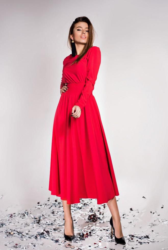 Платье Ариэль  красный