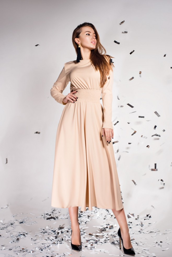Платье Ариэль  бежевый