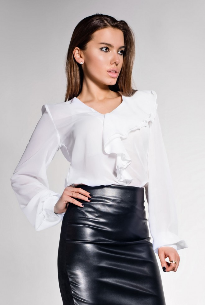 Блуза Роуз белый
