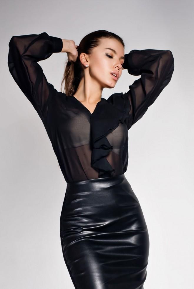 Рубашка Роуз черный Жадон