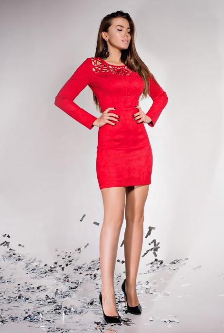 Платье Кара красный