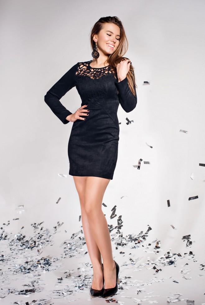 Платье Кара черный