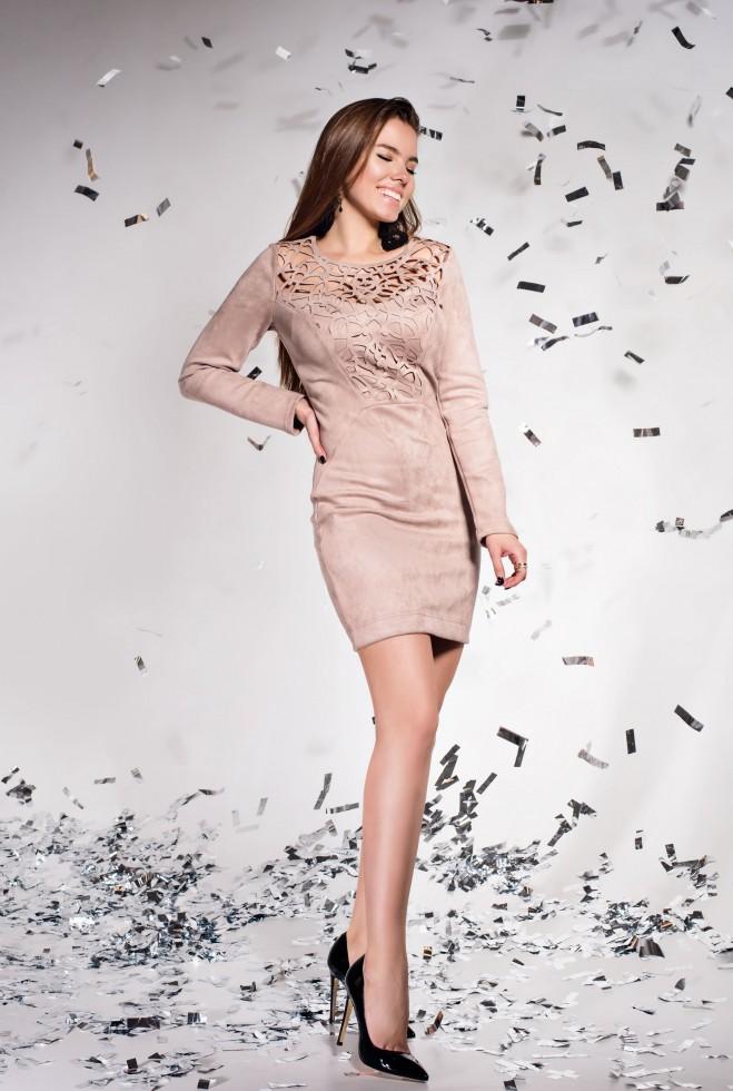 Платье Кара бежевый