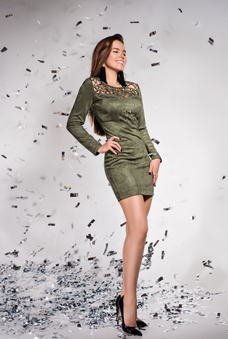 Платье Кара хаки