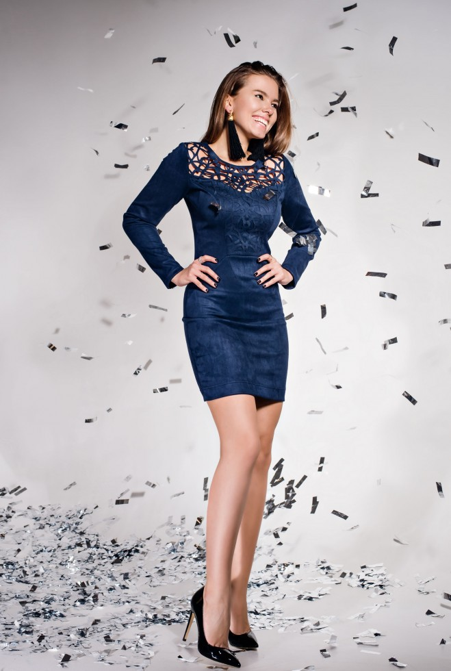 Платье Кара тёмно-синий