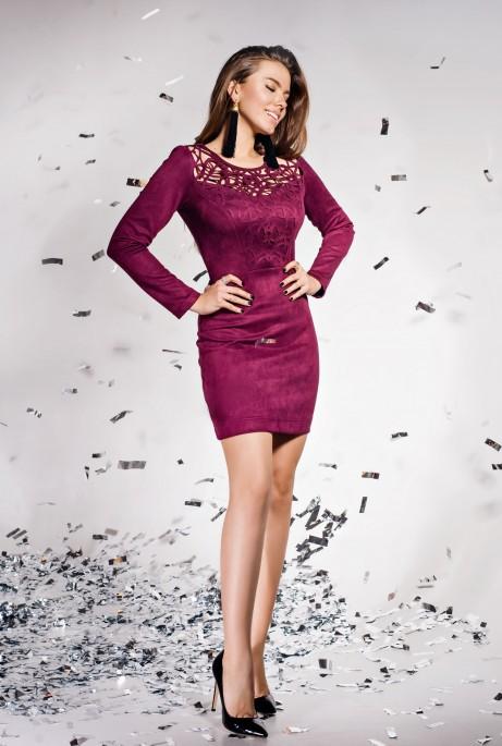 Платье Кара марсала