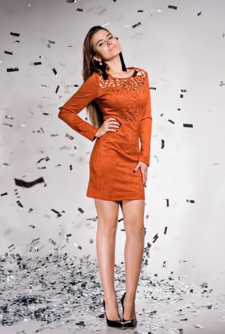 Платье Кара кирпичный