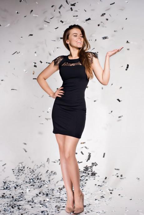 Платье Ливия черный