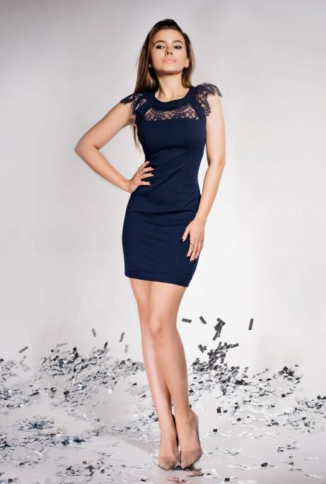 Платье Ливия тёмно-синий