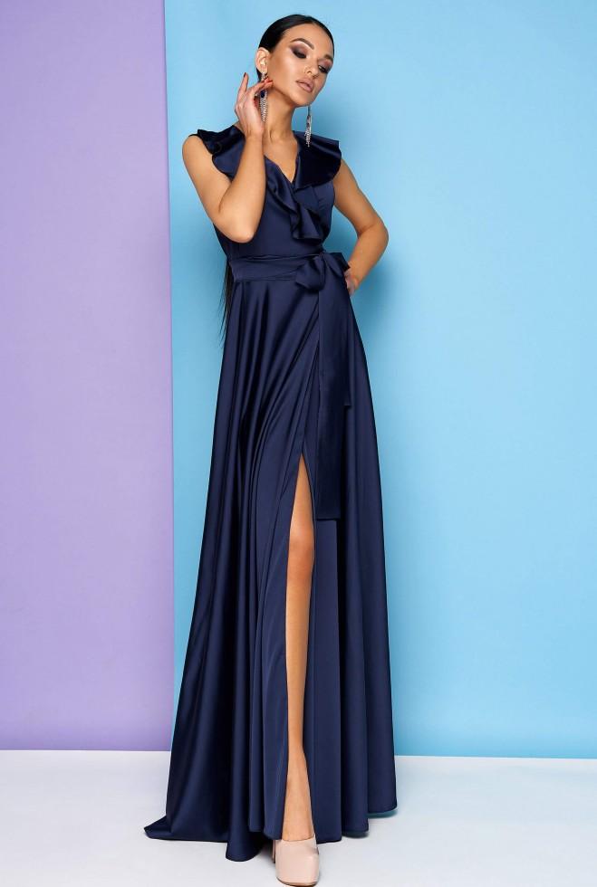Платье Азалия тёмно-синий