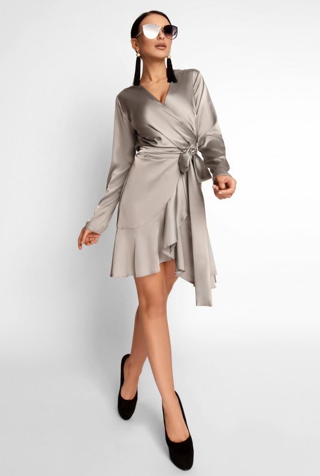Платье Арина стальной