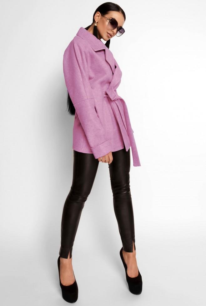 Укороченное облегченное пальто Скарлет лиловый