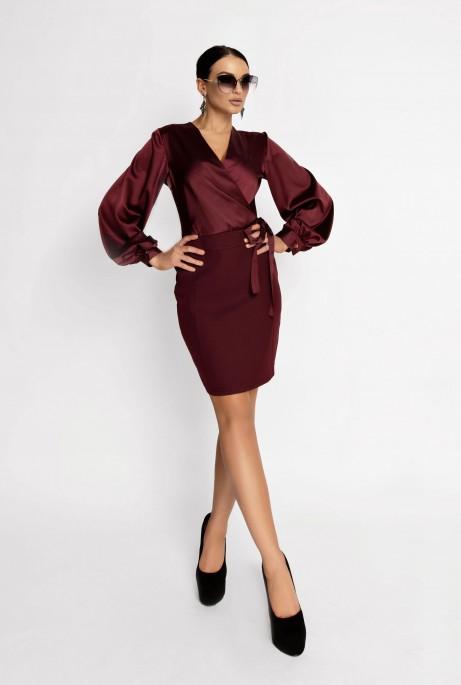 Платье Катрин марсала