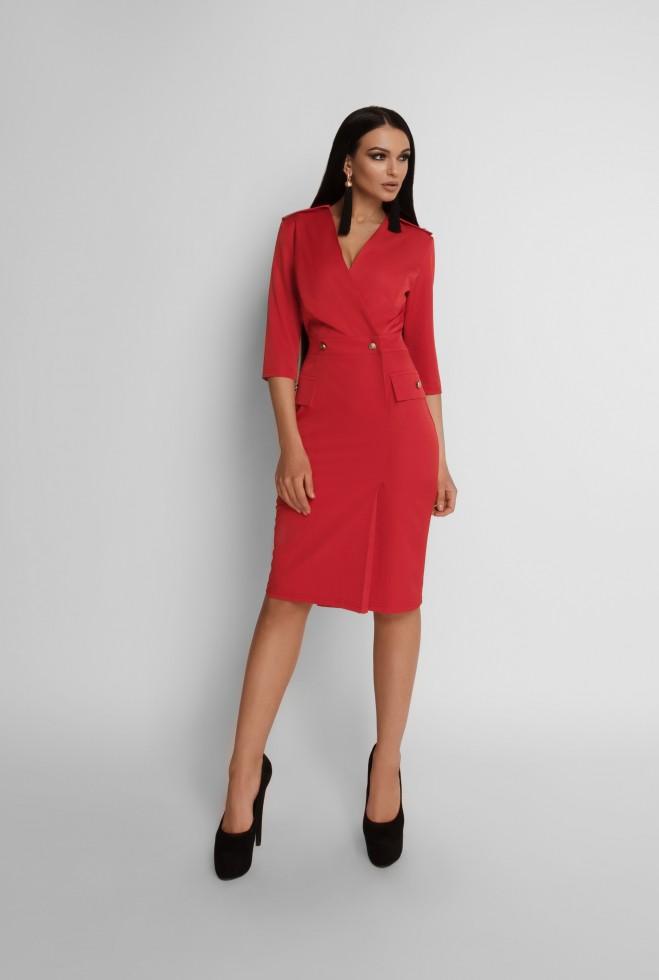 Платье Римма красный