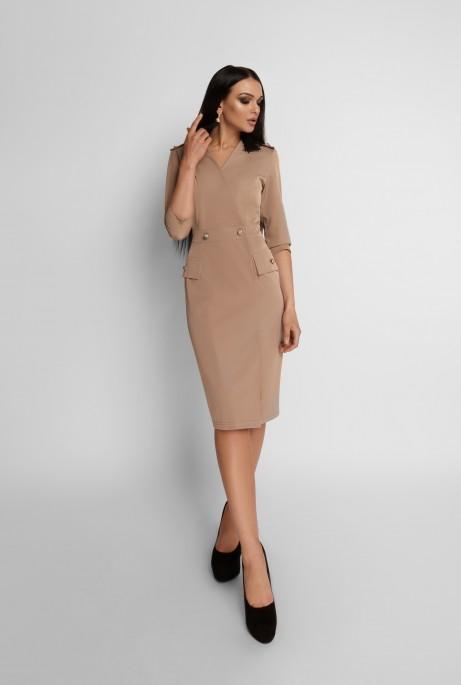 Платье Римма бежевый