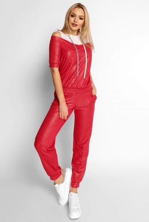 Прогулочный костюм Лари красный