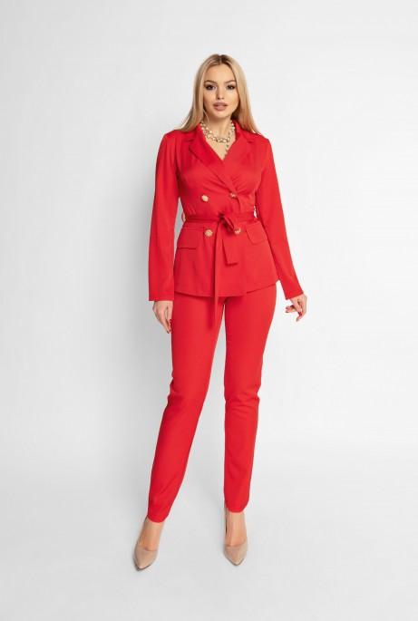 Брючный костюм Адель красный