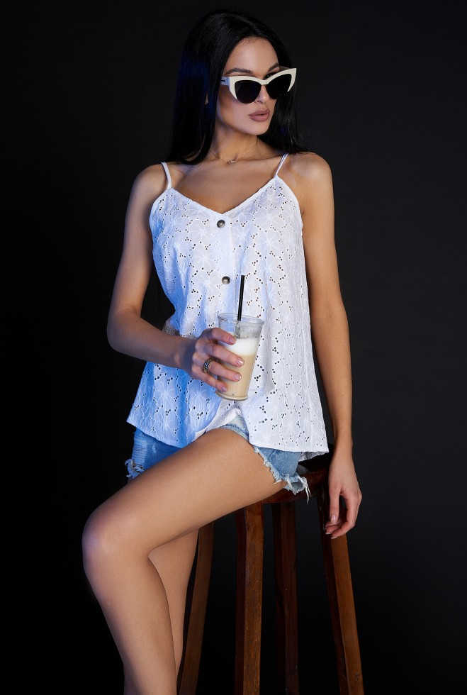 Блуза Рози белый