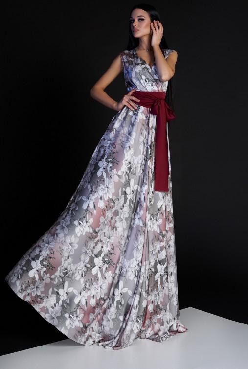 Платье Ивет комбинированный_2