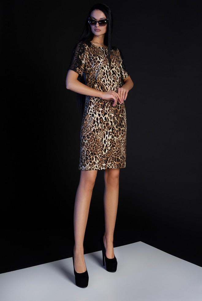 Платье Лайт без пояса коричневый
