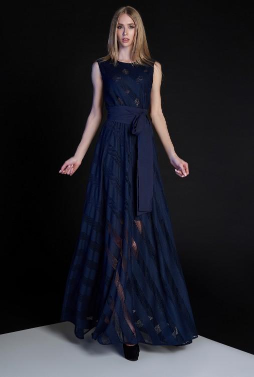 Платье Раяна тёмно-синий