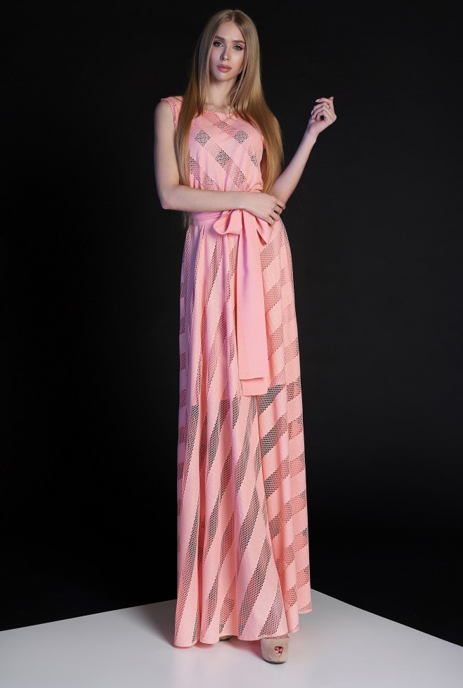 Платье Раяна персиковый