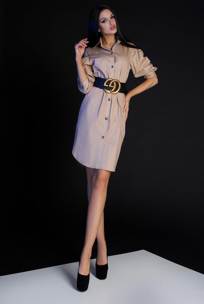 Платье-туника Кира без ремня бежевый Жадон