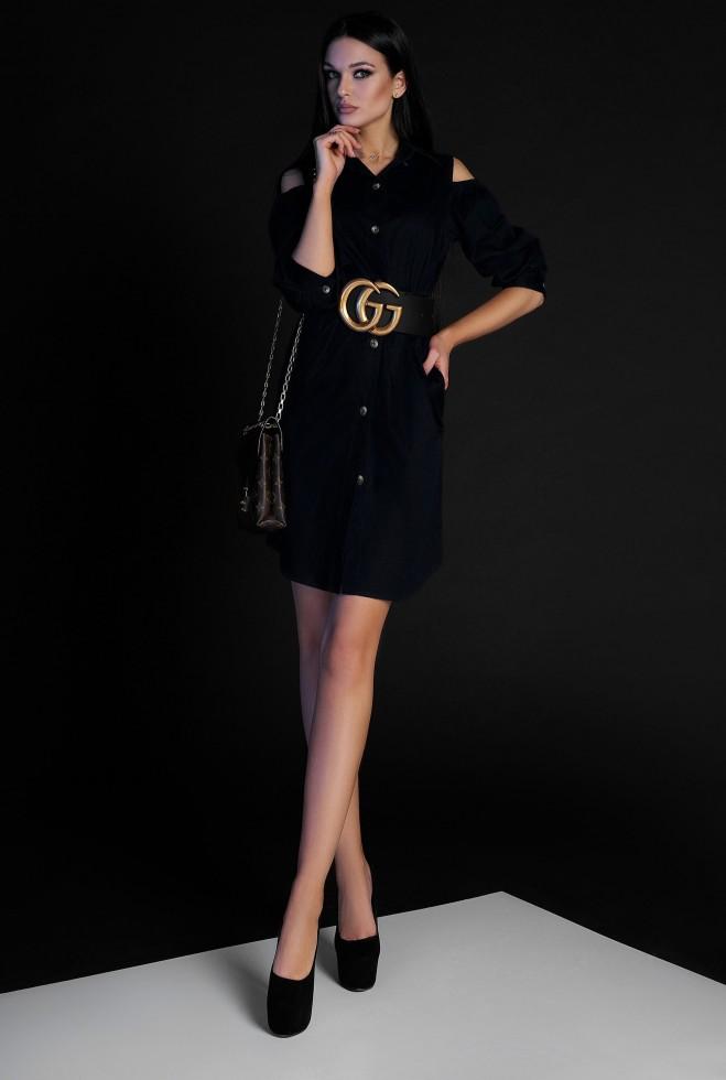 Платье-туника Кира без ремня черный Жадон