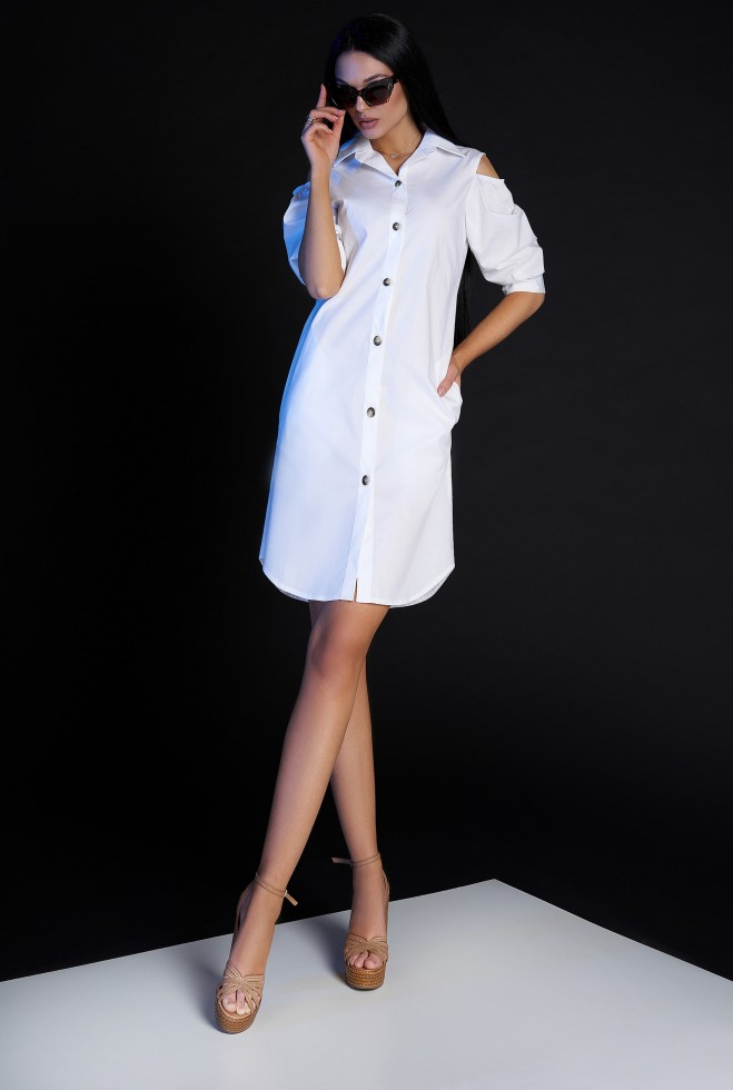 Платье-туника Кира без ремня белый