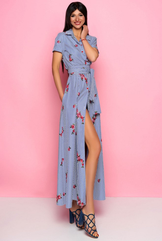 Платье Карла синий