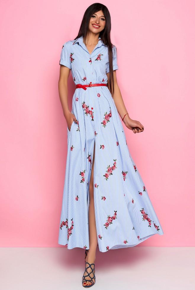 Платье Карла голубой