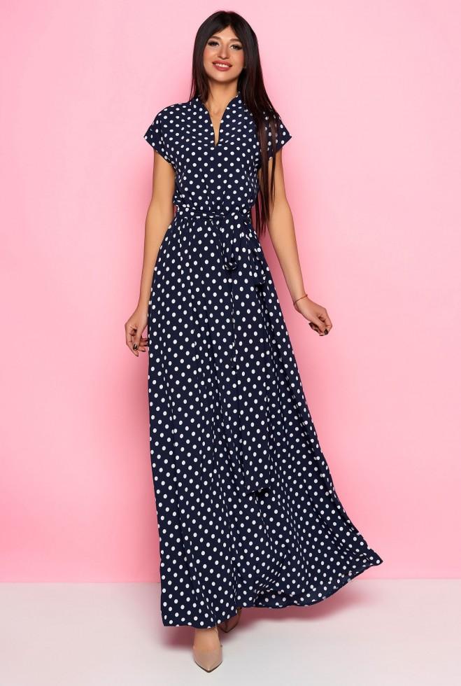 Платье Сюзанна тёмно-синий